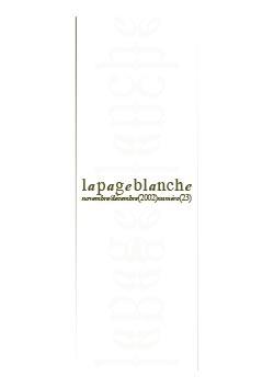 La page Blanche n°23