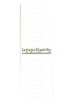 La page Blanche n°29