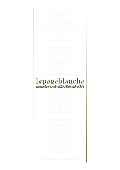 La page Blanche n°33