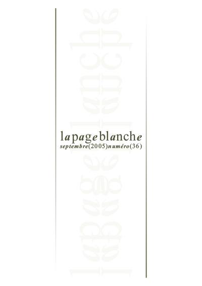 La page Blanche n°36