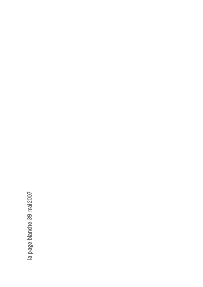 La page Blanche n°39
